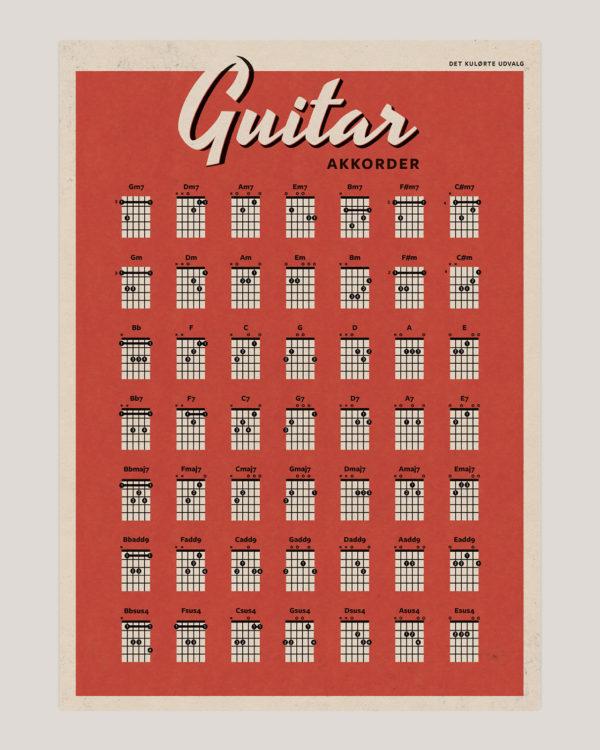 guitar akkorder chords poster plakat 6