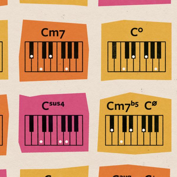 klaver piano akkorder chords plakater poster 3