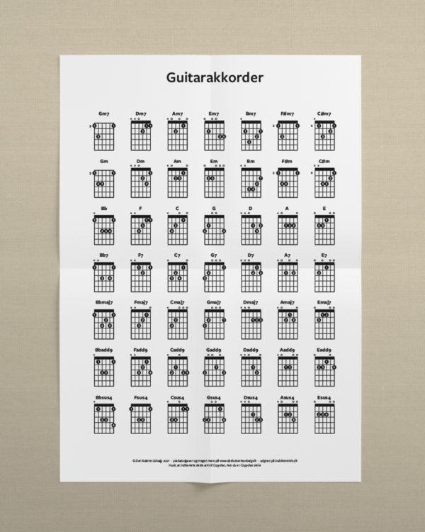 akkorder guitar print selv 2 1