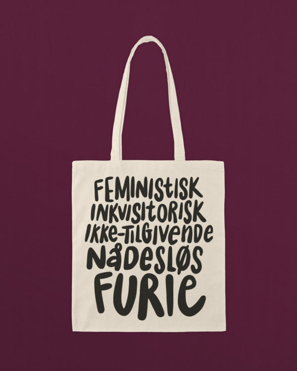 mulepose totebag feminisme furie sort 1