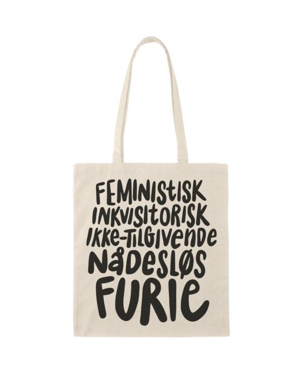 mulepose totebag feminisme furie sort 2