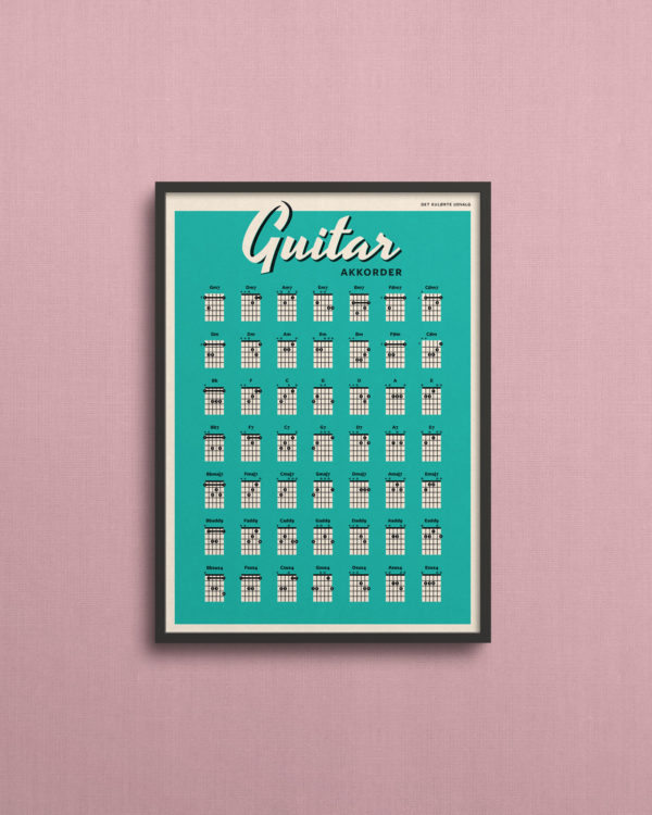 guitar akkorder chords poster plakat 2