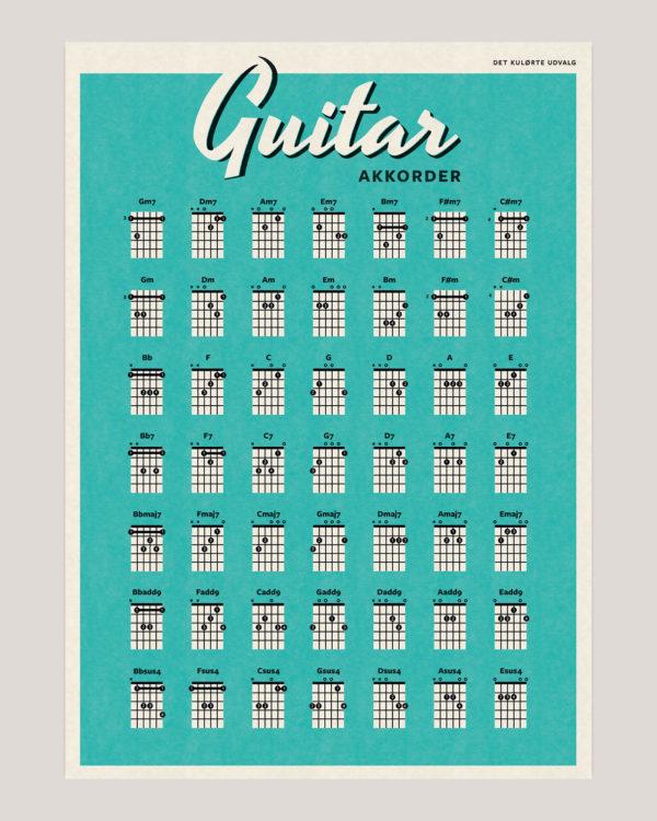 guitar akkorder chords poster plakat 8