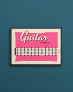 plakat med guitarens gribebræt