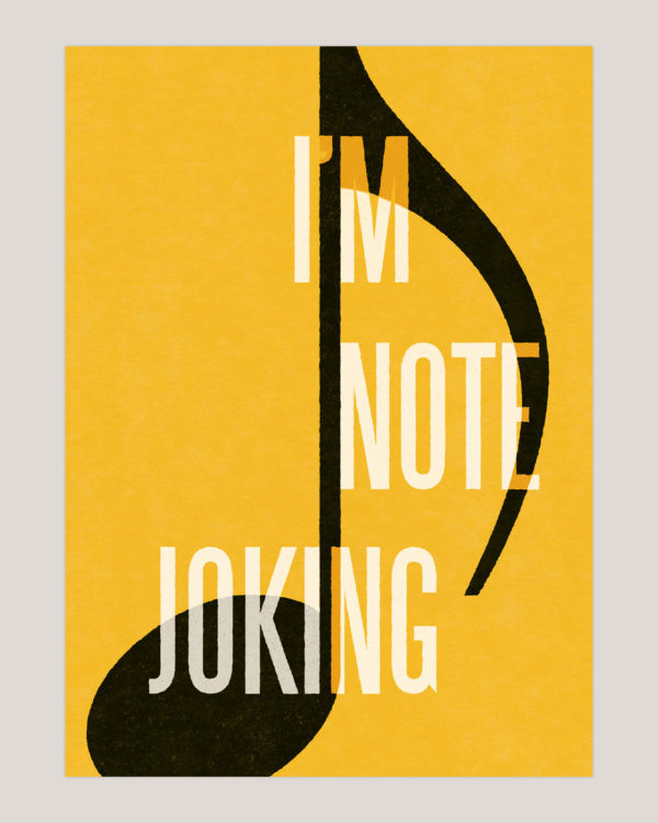 im not joking musik plakat poster 3